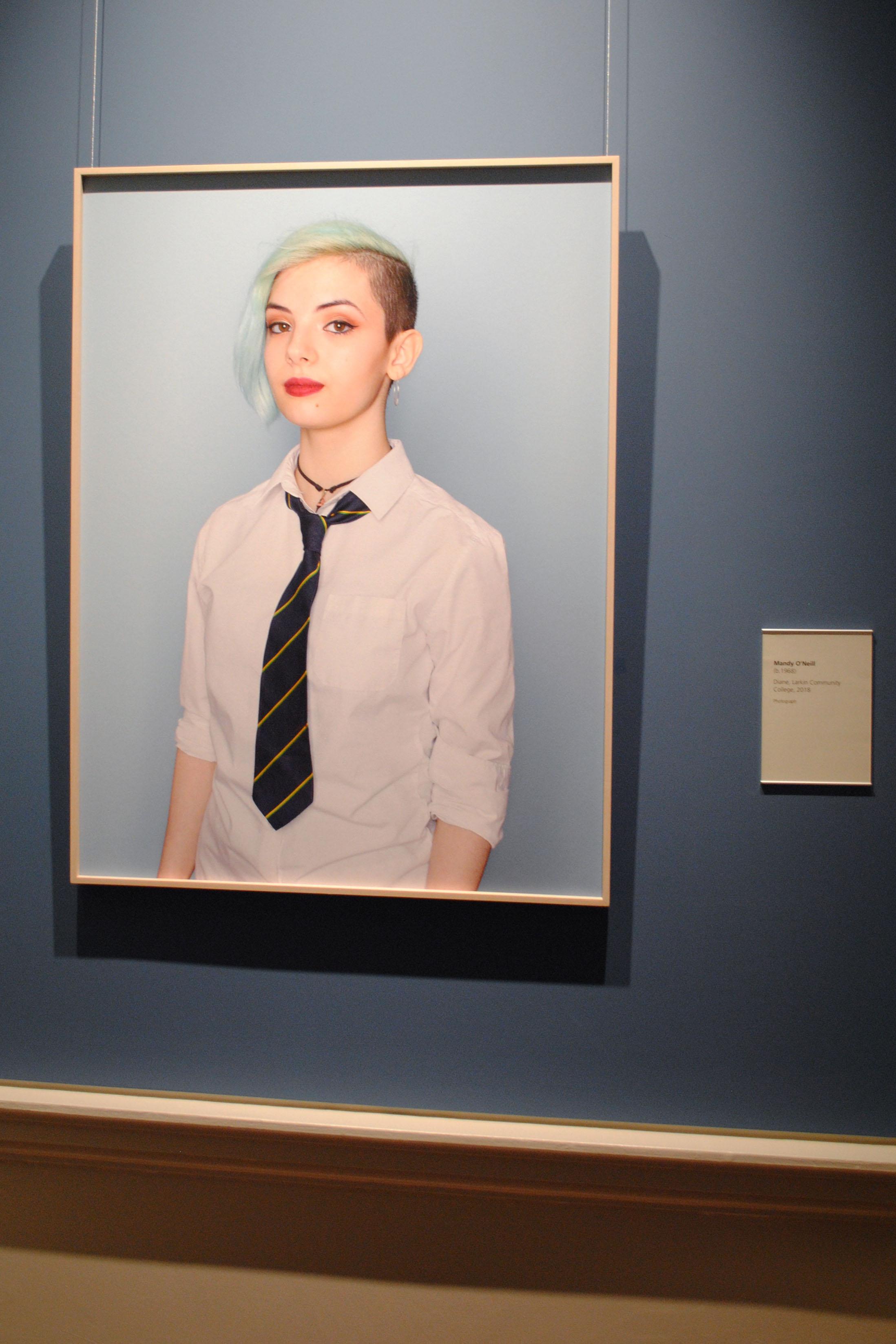 Mandy O'Neill's photo of Diane, Larkin Community College 2018, recently won Portrait of the Year.